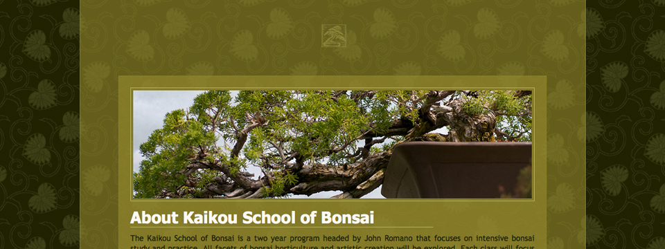Kaikou School of Bonsai (Website design, build and maintenance)